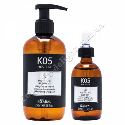 Набор против выпадения волос Kaaral K05 Revitae (шампунь 250 ml + лосьон 50 ml) фото 2