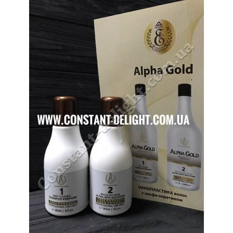 Нанопластика Alpha Gold 2x120 ml
