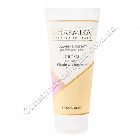 Крем для лица с коллагеном, эластином и Омега 3,6,9 pHarmika Cream Collagen, Elastin & Omega 3,6,9, 200 ml
