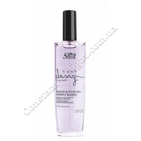 Кристаллы платиновые с маслом макадамии для осветленных волос Shot Care Design Simply Blond Platinum Drop 100 ml