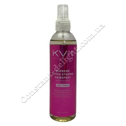 Лак для волос экстрасильной фиксации KV-1 Final Touch Supreme Extra Strong Hairspray 250 ml