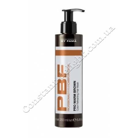 Маска для поддержания цвета коричневых теплых оттенков Professional By Fama Pro Warm Brown Hair Mask 200 ml
