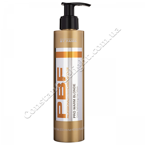 Маска тонирующая для тёплого блонда Professional By Fama Pro Warm Blonde Hair Mask 200 ml