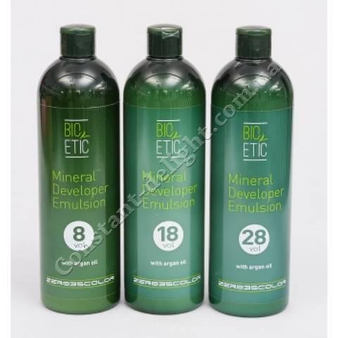 Минеральный оксидант для масляных красителей ( 2.4%,5.4%,8.4%) Emmebi Bio Etic Mineral Developer Emulsion 500 ml