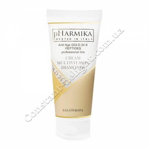 Мультивитаминный крем для лица с алмазной пудрой pHarmika Cream Multivitamin Diamonds Cream 200 ml