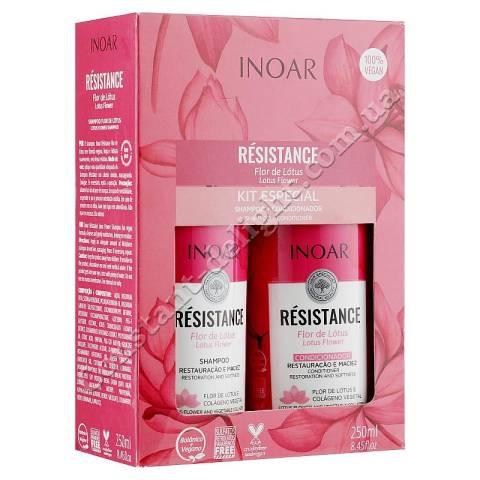 Набор для тонких волос Inoar Resistance Flo de Lotus Especial Kit 2x250 ml (2)