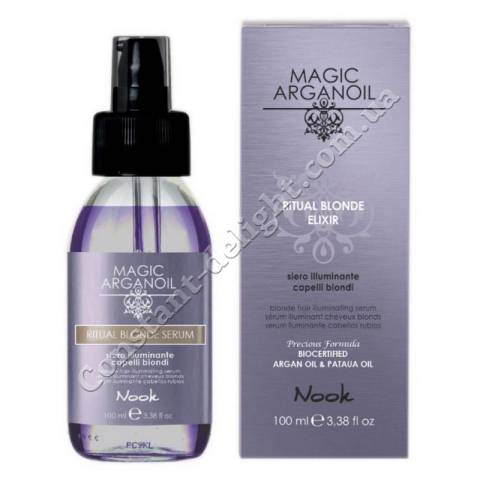 Сыворотка для сияния светлых волос Nook Magic Arganoil Ritual Blonde Serum 100 ml