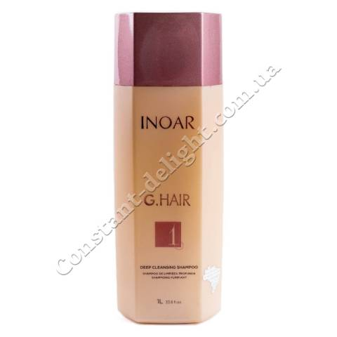 Очищающий шампунь для волос Inoar G-Hair Premium Deep Cleansing Shampoo 1000 ml