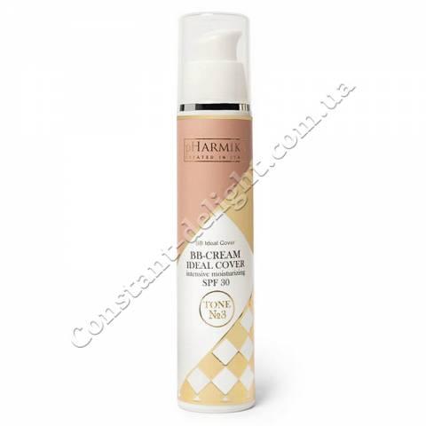ВВ-крем для лица интенсивное увлажнение SPF 30 (Тон №3 Светлый беж) pHarmika BB-Cream Ideal Cover Intensive Moisturizing SPF 30 Tone №3 (Medium Yellow), 50 ml