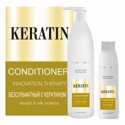 Безсульфатний кондиціонер з кератином і протеїнами шовку Jerden Proff 300 ml
