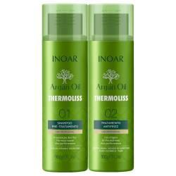 Набор для кератинового выпрямления волос Inoar Argan Oil Thermoliss Kit 2x1000 ml