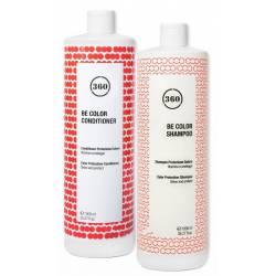 Набор для окрашенных волос с ежевичным уксусом Kaaral 360 Be Color Kit 2x1000 ml