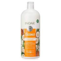 Безсульфатный кондиционер для волос Inoar Bombar Coconut Conditioner 1000 ml