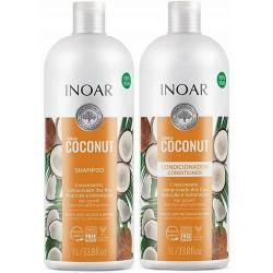 Безсульфатный набор с кокосом Inoar Bombar 2x1000 ml