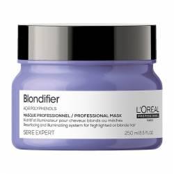 Восстанавливающая маска-блеск  для волос, окрашенных в оттенки блонд L'Oreal Professionnel Serie Expert Blondifier Masque 250 ml