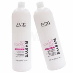 Бальзам для окрашенных волос с рисовыми протеинами и экстрактом женьшеня Kapous Professional Studio Balsam 1000 ml