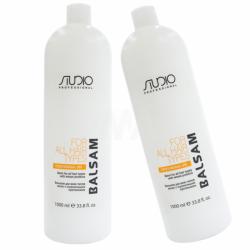 Бальзам для всех типов волос с пшеничными протеинами Kapous Professional Studio Balsam 1000 ml