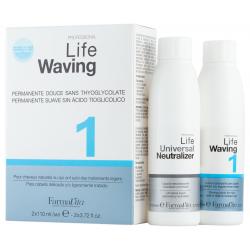 Биозавивка для волос (натуральные, окрашенные) FarmaVita Life Waving 1, 2х110 ml