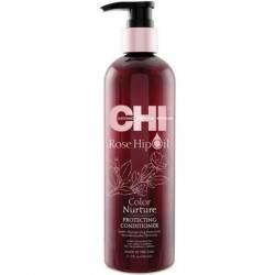 CHI ROSE HIP OIL Кондиционер для окрашенных волос с маслом розы и кератина 340 ml