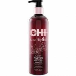CHI ROSE HIP OIL Шампунь для окрашенных волос с маслом розы и кератина 340 ml