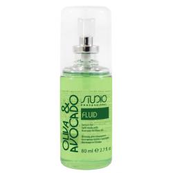 Флюид для секущихся кончиков волос с маслами авокадо и оливы Kapous Professional Studio Fluid 80 ml
