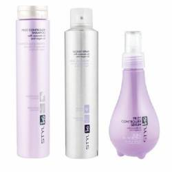 Набор для непослушных и вьющихся волос ING Professional Styl-ING Frizz Controller Set (shm/250ml + serum/150ml + spray/250ml)