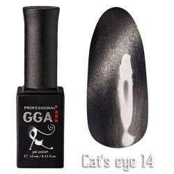 Гель-лак GGA Professional Кошачий Глаз 10 мл №14