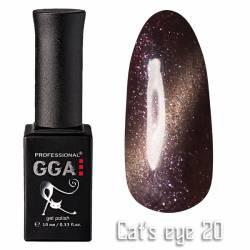 Гель-лак GGA Professional Кошачий Глаз 10 мл №20