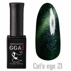 Гель-лак GGA Professional Кошачий Глаз 10 мл №21