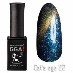 Гель-лак GGA Professional Кошачий Глаз 10 мл №22
