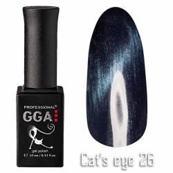 Гель-лак GGA Professional Кошачий Глаз 10 мл №26