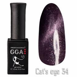 Гель-лак GGA Professional Кошачий Глаз 10 мл №34