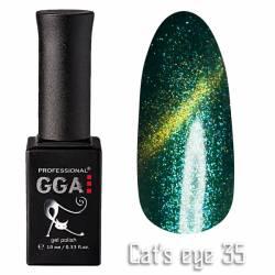 Гель-лак GGA Professional Кошачий Глаз 10 мл №35