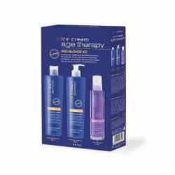 INEBRYA PRO-BLONDE KIT набор для светлых, осветлённых и мелированных волос 300 мл. + 300 мл. + 100 мл.