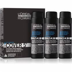 Гель для окрашивания мужской седины L'Oreal Professionnel Homme Cover 5, 3x50 ml