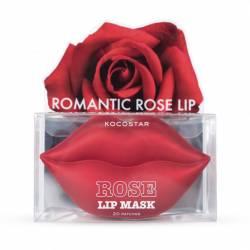 Гидрогелевые патчи для губ Роза (20  патчей) Kocostar Rose Lip Mask Jar 20 pc