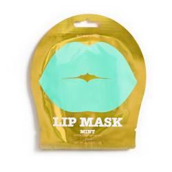 Гидрогелевые патчи для губ с ароматом Зеленого Винограда Мятные (1 шт) Kocostar Lip Mask Mint Single Pouch Green Grapes Flavor 1 pc