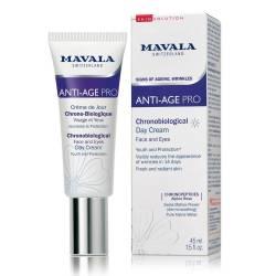 Хронобиологический Омолаживающий дневной крем для лица и области вокруг глаз Mavala Anti-Age Pro Chronobiological Day Cream 45 ml