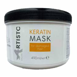 Восстанавливающая маска для поврежденных волос Elea Professional Artisto Salon Keratin Mask 490 ml