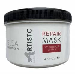 Восстанавливающая маска для окрашенных и сухих волос Elea Professional Artisto Salon Repair Mask 490 ml