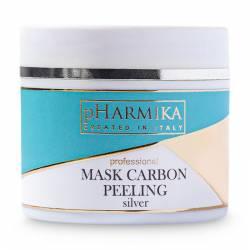 Карбоновая маска для лица пилинг с серебром pHarmika Carbon Peeling Mask with Silver, 100 ml