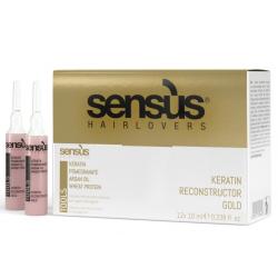 Кератиновые ампулы для реконструкции волос Sens.us Tools Keratin Reconstructor Gold 12x10 ml