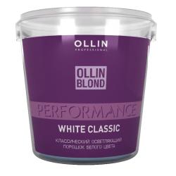 Классический осветляющий порошок белого цвета Ollin Professional White Blond Powder 500 g