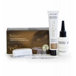 Фарба для брів і вій Estel ENIGMA світло-коричнева 20 / 20 ml