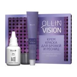 Крем-фарба для брів і вій (в наборі) Коричнева Color cream for eyebrows and eyelashes 20 ml