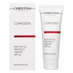 Крем для лица Матирование и Защита Christina Comodex-Mattify&Protect Cream SPF 15, 75 ml