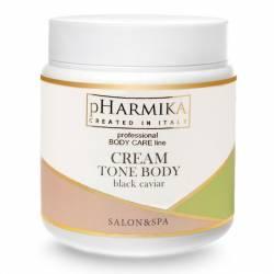 Крем для тонуса тела с черной икрой pHarmica Cream Tone Body Black Caviar 500 ml