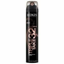 Лак для волос экстрасильной фиксации с тройным распылителем Redken Triple Take 32 Extreme High-Hold Hairspray 300 ml
