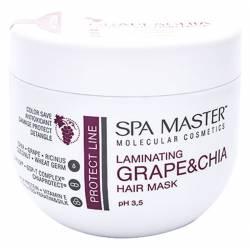 Ламинирующая маска для защиты волос с виноградом и чиа Spa Master Laminating Grape & Chia Hair Mask 500 ml