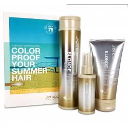 Летний набор для сохранения яркости блонда Joico Blonde Life Summer Kit (300 ml+150 ml+50 ml)